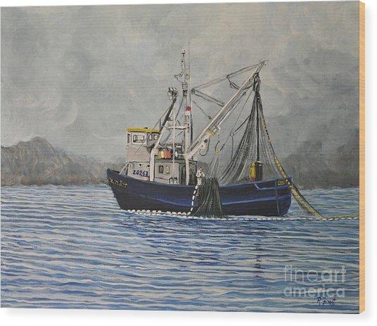 Alaskan Fishing Wood Print