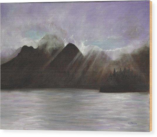 Alaskan Morning Wood Print by Merle Blair