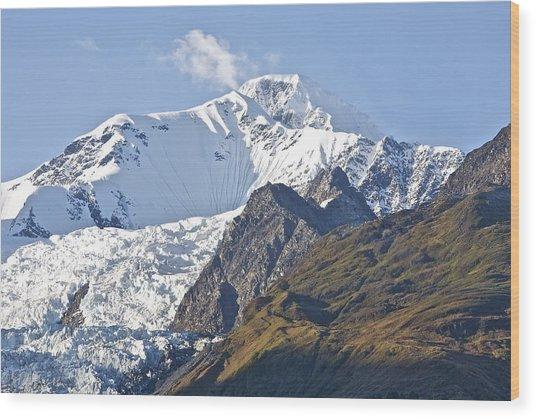 Alaskan Snowtop Wood Print by Robert Joseph