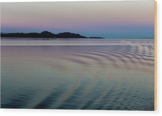 Alaskan Sunset At Sea Wood Print