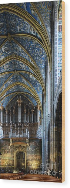 Albi Cathedral Nave Wood Print