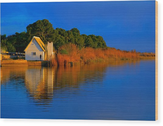 Albufera Blue. Valencia. Spain Wood Print