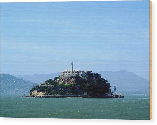 Alcatraz Island Wood Print by Sonja Anderson