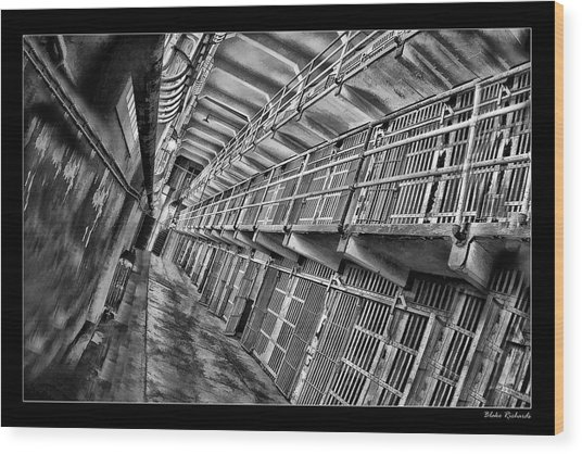 Alcatraz The Cells Wood Print