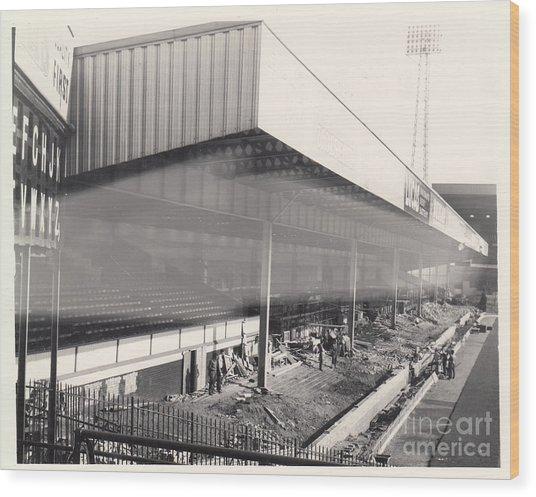 Aston Villa - Villa Park - Bw - 1960s Wood Print