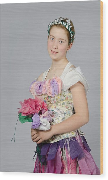 Alegra In Paper Floral Dress Wood Print