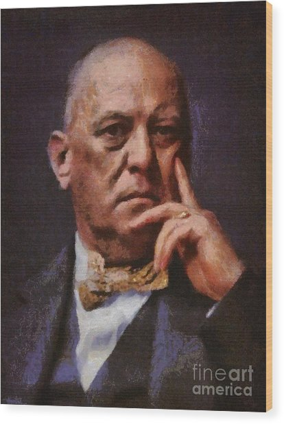 Aleister Crowley, Infamous Occultist Wood Print