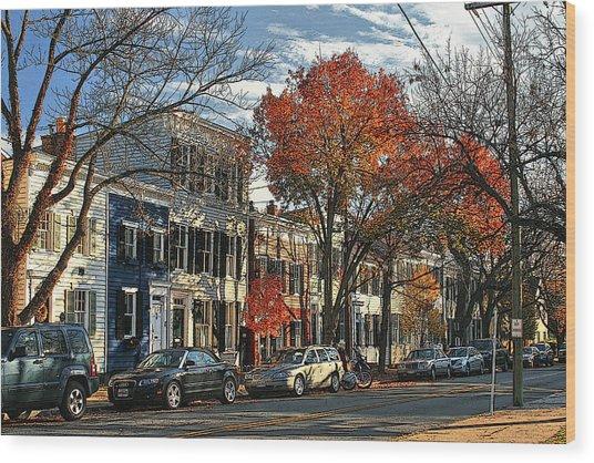 Alexandria Street Wood Print by Larry Darnell
