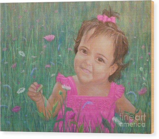Alexis In Pink Wood Print
