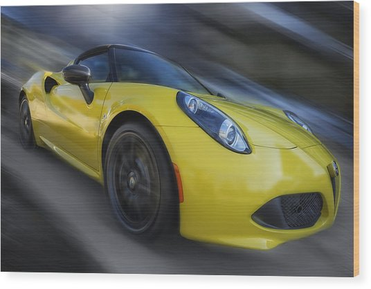 Alfa Romeo 4c Spider Wood Print by Larry Helms