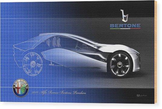 Alfa Romeo Bertone Pandion Concept Wood Print