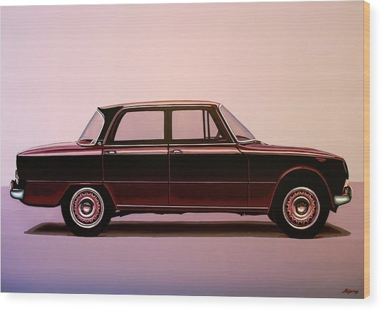 Alfa Romeo Giulia Super 1967 Painting Wood Print