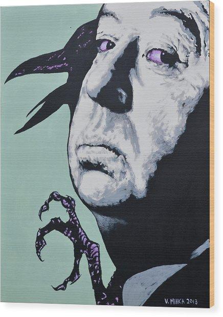 Alfred Hitchcock Wood Print
