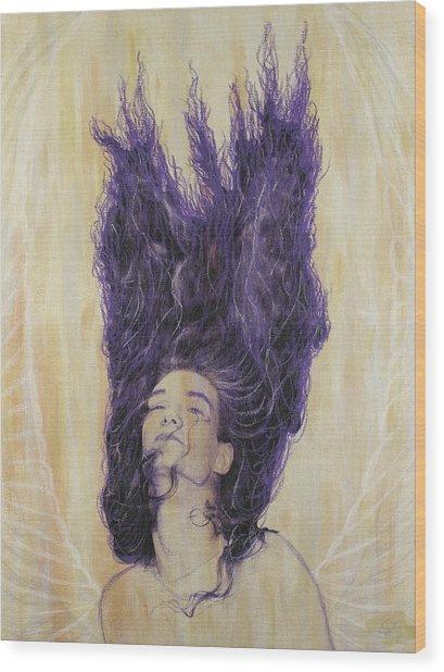 Algiz Wood Print by Arnuda