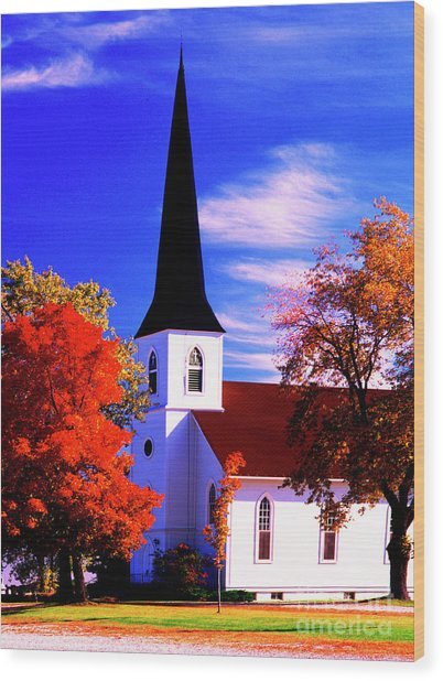 Algonquin Rd Church St Johns United  Wood Print