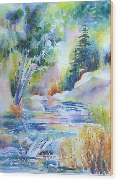 Algonquin Waters Wood Print
