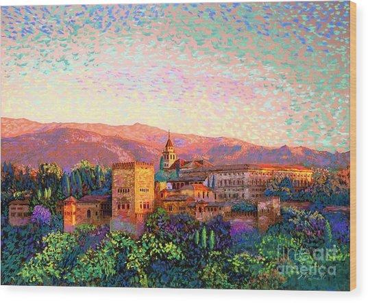 Alhambra, Granada, Spain Wood Print