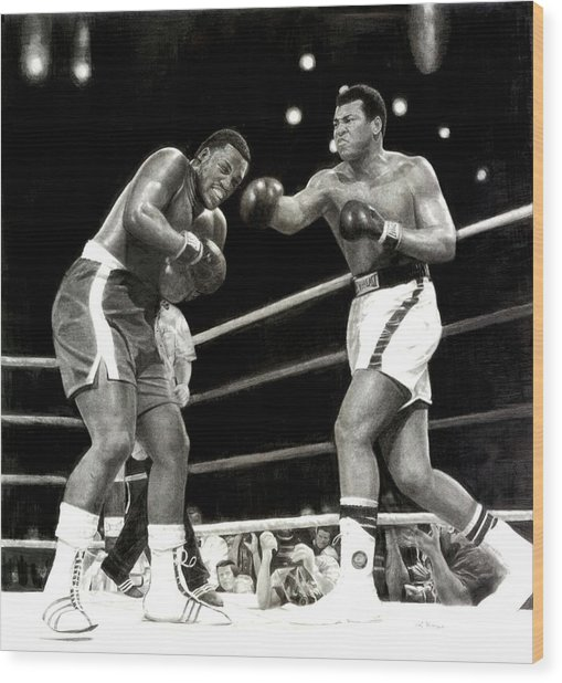 Ali Vs. Frazier 3 Wood Print