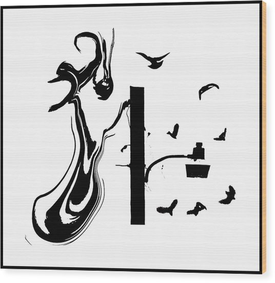 Alice Cooper 1 Wood Print by Michael DeBlanc