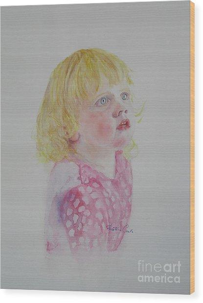 Alice Wondering Wood Print
