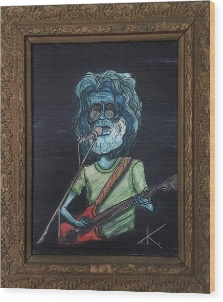 Alien Jerry Garcia Wood Print