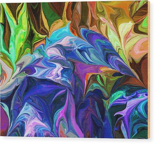 Alien Jungle Flora Wood Print
