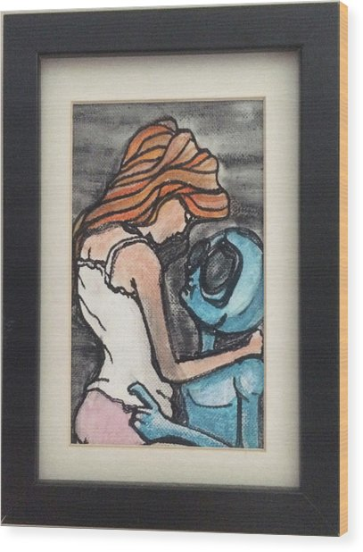 Alien Seduction Wood Print