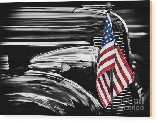 All American Buick Wood Print by Tim Gainey