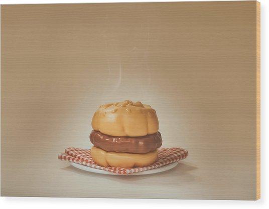 All-american Burger Wood Print