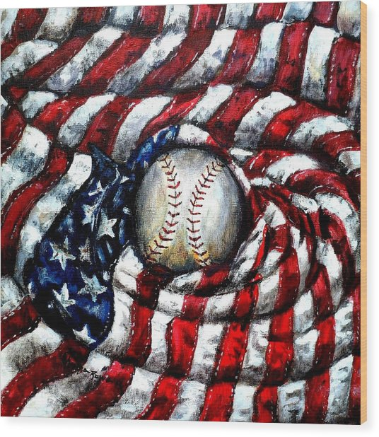 All American Wood Print