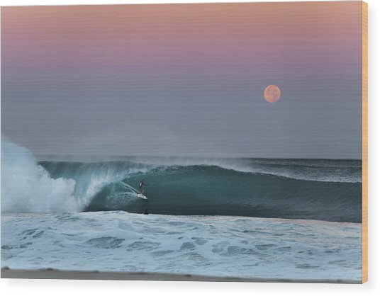 Full Moon Pipeline. Wood Print