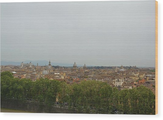 View All Of Rome Wood Print by JAMART Photography