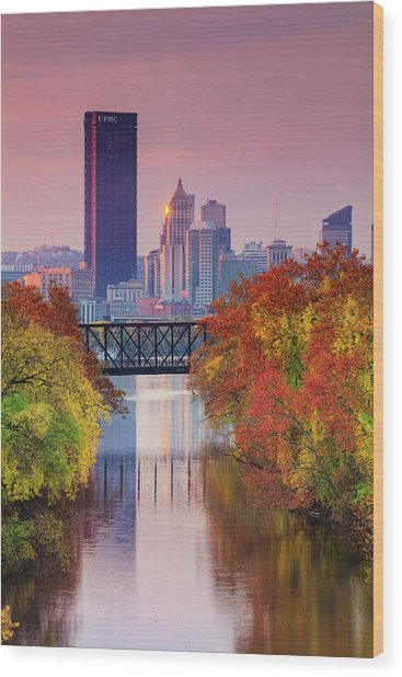 All Pittsburgh Pink  Wood Print