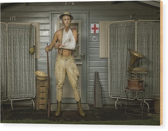 All Quiet On The Western Front-part Three Wood Print by Ronald Van Grinsven