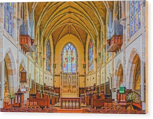 All Saints Chapel, Interior Wood Print