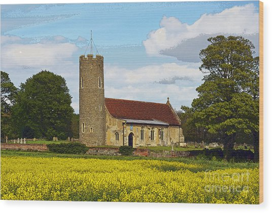 All Saints Frostenden. Wood Print by Stan Pritchard