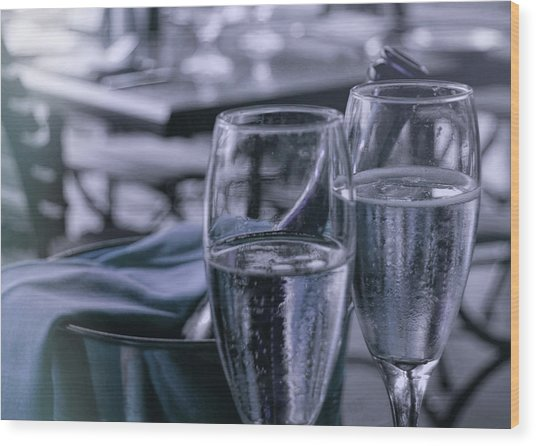 All Sparkling Blue Wood Print by JAMART Photography