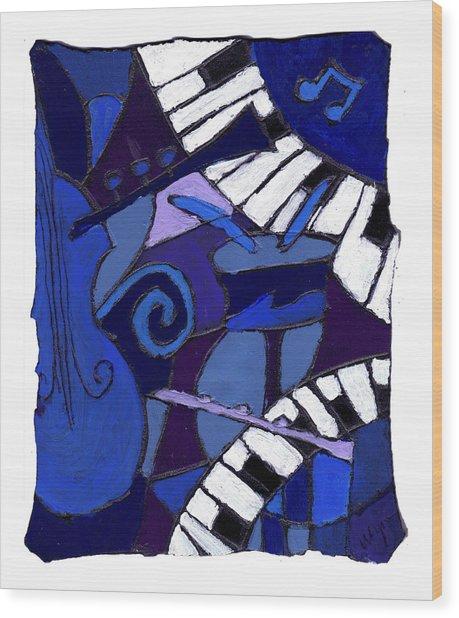 All That Jazz 3 Wood Print