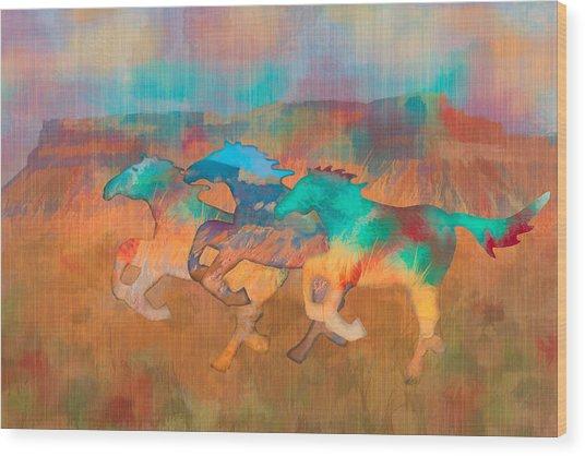 All The Pretty Horses Wood Print