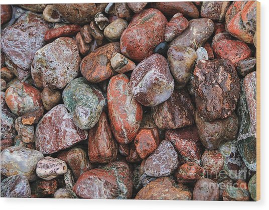 All The Stones Wood Print