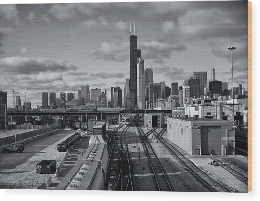 All Tracks Lead To Chicago Wood Print