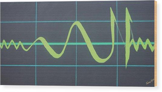 Allah In Cardiograph Wood Print
