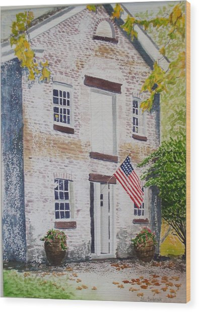 Allaire Carpenter Shop Wood Print by Ally Benbrook