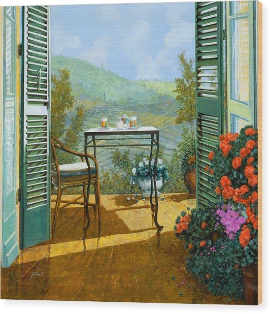 Alle Dieci Del Mattino Wood Print