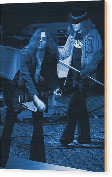 Allen Collins And Ronnie Van Zant Same Old Winterland Blues Wood Print