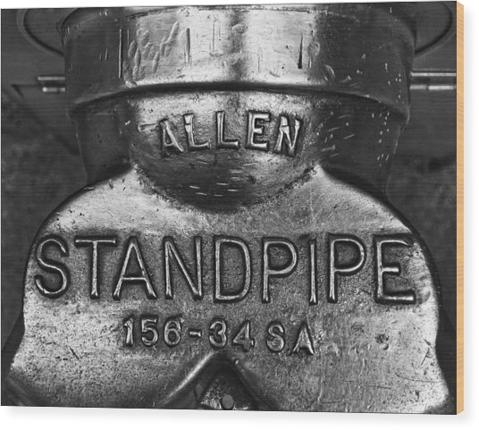Allen Standpipe Wood Print by Robert Ullmann