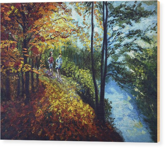 Alley By The Lake 1 Wood Print
