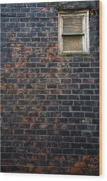 Alley Window Wood Print
