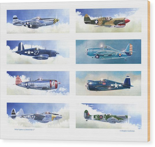 Allied Fighters Of The Second World War Wood Print