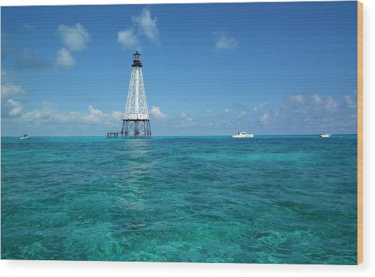 Alligator Reef Lighthouse Wood Print